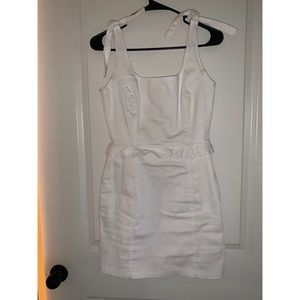 Gianni Bini white denim dress